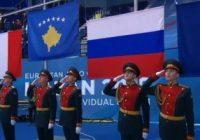 kosovaarse vlag in rusland vanwege majlinda kelmendi