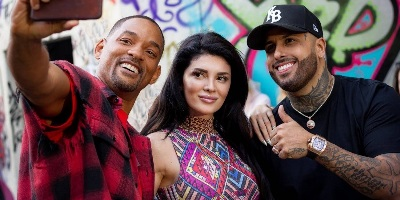 Kosovaarse zangeres Era Istrefi with Will Smith