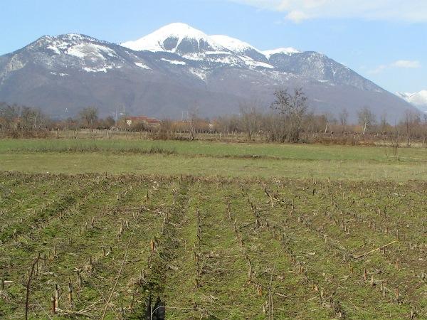 besneeuwde bergen in kosovo